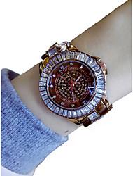 cheap -Women's Wrist Watch Quartz Chronograph Luminous Casual Watch Alloy Band Analog Bangle Fashion Chocolate - Coffee / Imitation Diamond / Large Dial
