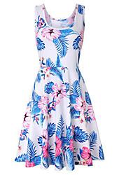 cheap -Women's Basic Swing Dress - Floral / Geometric