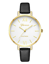 cheap -Geneva Women's Dress Watch / Wrist Watch Chinese New Design / Casual Watch / Cool Leather Band Casual / Fashion Black / One Year
