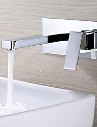cheap -Bathroom Sink Faucet - Widespread / New Design Chrome Wall Mounted Single Handle One Hole
