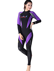 cheap -Dive&Sail Women's Full Wetsuit 1mm Neoprene Diving Suit Thermal / Warm, Quick Dry, Ultraviolet Resistant Long Sleeve - Swimming / Diving / Surfing Back Zipper / Breathable / Breathable