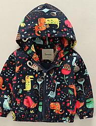 Недорогие -малыш Мальчики С принтом Длинный рукав Куртка / пальто