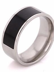 baratos -Casal Resina Clássico Anel - Aço Titânio Criativo Simples, Clássico 6 / 7 / 8 Prata Para Casamento