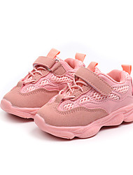 cheap -Girls' Shoes Mesh Fall & Winter Comfort Sneakers Walking Shoes Buckle for Kids Black / Gray / Pink