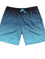 Недорогие -Муж. Светло-синий Мальчик ноги Трусики, шорты и т.д. Купальники - Геометрический принт L XL XXL Светло-синий