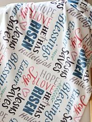 Недорогие -Коралловый флис, Активный краситель Геометрический принт / Буквы Хлопок / полиэфир одеяла
