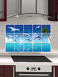 cheap -Decorative Wall Stickers - Plane Wall Stickers Animals Living Room / Bedroom / Bathroom