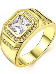 preiswerte -Herrn Stilvoll Ring - Diamantimitate Kostbar Luxus, Klassisch, Modisch 8 / 9 / 10 Gold Für Karnival / Verabredung