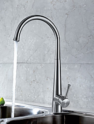 cheap -Kitchen faucet Brushed Steel Standard Spout Free Standing