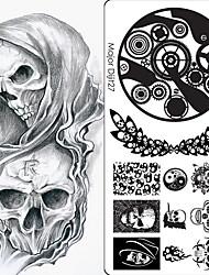 abordables -10 pcs Bouts D'ongles Artificiels Kit Nail Art Outil d'estampage à ongles Modèle Créatif / Types multiples Manucure Manucure pédicure Punk / Hip-Hop