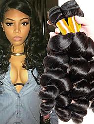 Недорогие -4 Связки Малазийские волосы Свободные волны Натуральные волосы Подарки / Косплей Костюмы / Человека ткет Волосы 8-28 дюймовый Ткет человеческих волос