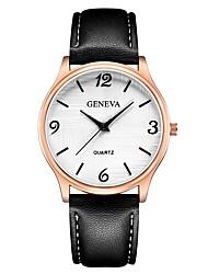 Недорогие -Geneva Жен. Наручные часы Китайский Новый дизайн / Повседневные часы / Cool Кожа Группа На каждый день / Мода Черный / Коричневый / Темно-синий