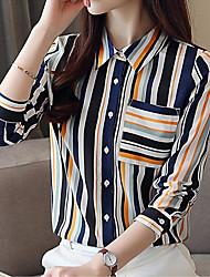 cheap -Women's Vintage / Basic Blouse - Striped Tassel