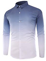 cheap -Men's Basic Shirt - Color Block