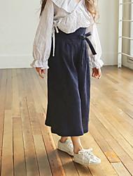 preiswerte -Kinder Mädchen Boho Solide Baumwolle Hose