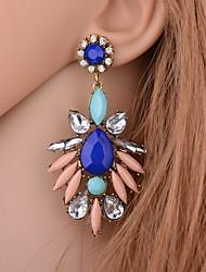 baratos -Mulheres Longas Brincos Compridos - Na moda, Doce Vermelho / Azul / Rosa claro Para Presente Feriado
