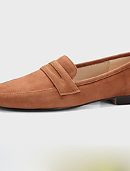 Недорогие -Жен. Обувь Овчина Весна Удобная обувь На плокой подошве На плоской подошве Квадратный носок Коричневый / Зеленый / Розовый / Для вечеринки / ужина