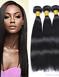 cheap -3 Bundles Malaysian Hair Straight Human Hair Natural Color Hair Weaves / Costume Accessories / Hair Accessory 8-28 inch Human Hair Weaves Machine Made Best Quality / Hot Sale / Comfortable Natural