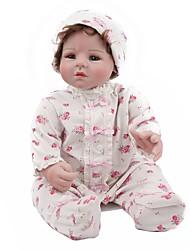 Недорогие -Куклы реборн / Куклы Дети 22 дюймовый как живой Детские Универсальные Подарок