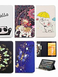 Недорогие -Кейс для Назначение Amazon Kindle Fire hd 10(7th Generation, 2017 Release) Кошелек / Бумажник для карт / со стендом Чехол Слон Твердый Кожа PU