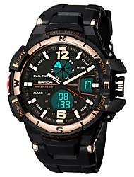 Недорогие -SANDA Муж. Спортивные часы электронные часы Японский Цифровой 30 m Защита от влаги Календарь С двумя часовыми поясами силиконовый Группа Аналого-цифровые Роскошь Мода Черный - / Хронометр