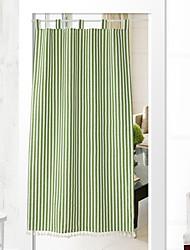 abordables -Puerta Panel Cortinas cortinas Sala de estar Un Color Algodón / Poliéster Estampado reactivo