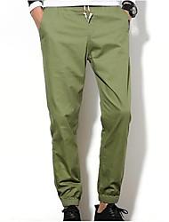 cheap -Men's Harem Pants - Solid Colored Black & White, Tassel