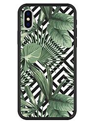 Недорогие -Кейс для Назначение Apple iPhone X / iPhone 8 Plus С узором Кейс на заднюю панель Растения / Геометрический рисунок / Мультипликация Твердый Акрил для iPhone X / iPhone 8 Pluss / iPhone 8