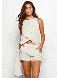 abordables -Mujer Polo - Un Color Pantalón