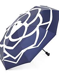 baratos -Poliéster / Aço Inoxidável / Nãotecidos Todos Novo Design / Ensolarado e chuvoso Guarda-Chuva Dobrável