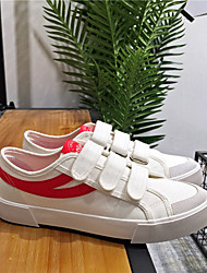 cheap -Men's Moccasin Canvas Summer Sneakers Red / Black / White / White / Blue