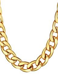 Недорогие -Муж. Толстая цепь Ожерелья-цепочки Нержавеющая сталь гипербола Мода Золотой Черный Серебряный 55 cm Ожерелье Бижутерия 1шт Назначение Подарок Повседневные