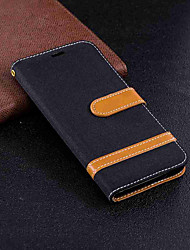cheap -Case For Huawei P20 Pro / P20 lite Wallet / Card Holder / with Stand Full Body Cases Solid Colored Hard Textile for Huawei P20 / Huawei P20 Pro / Huawei P20 lite