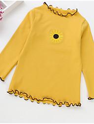 preiswerte -Kinder Mädchen Druck Langarm Bluse