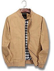 cheap -Men's Jacket - Contemporary Stand / Long Sleeve
