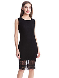 cheap -women's going out sheath dress knee-length