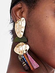 abordables -Femme Incompatibilité / Creux Boucles d'oreille goutte - Résine Pointe simple, Européen, Branché Marron / Rouge / Bleu Pour Plein Air / Professionnel