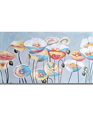 cheap -STYLEDECOR Modern Hand Painted The Abstract Lotus on Canvas Oil Painting for Wall Art