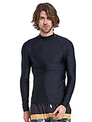 cheap -SBART Men's Diving Rash Guard SPF50, UV Sun Protection, Quick Dry Nylon Long Sleeve Swimwear Beach Wear Sun Shirt / Top Solid Colored Diving