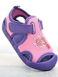 preiswerte -Mädchen Schuhe Leinwand Sommer Komfort Sandalen Klettverschluss für Baby Grün / Rosa