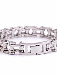 cheap -Men's Link / Chain Link Bracelet - Titanium Steel Creative Statement, European Bracelet Silver For Gift / Carnival