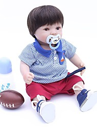 cheap -OtardDolls Reborn Doll Baby Boy 16 inch lifelike, Tipped and Sealed Nails, Artificial Implantation Brown Eyes Kid's Boys' Gift