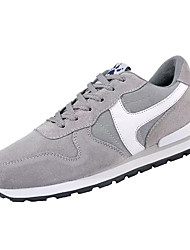 cheap -Men's Pigskin Winter Comfort Athletic Shoes Running Shoes Gray / Blue