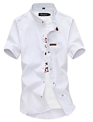 economico -Camicia Per uomo Lavoro / Essenziale Tinta unita