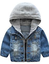 preiswerte -Kinder Jungen Grundlegend Patchwork Patchwork Langarm Baumwolle Anzug & Blazer