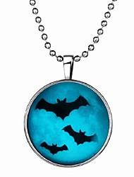baratos -Homens Pedra Luminosa Longas Colares com Pendentes - Resina Criativo Desenho, Fashion Azul 60 cm Colar 1pç Para Halloween, Bandagem