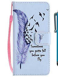 cheap -Case For Huawei P20 lite / Huawei P smart Wallet / Card Holder / with Stand Full Body Cases Feathers Hard PU Leather for Huawei P20 / Huawei P20 lite / Huawei P smart