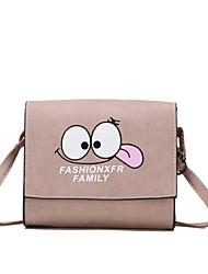 cheap -Women's Bags PU(Polyurethane) Shoulder Bag Pattern / Print Blushing Pink / Dark Gray / Light Gray