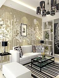 abordables -fond d'écran / Mural Toile Revêtement - adhésif requis Décoration artistique / Arbres / Feuilles / Carreau vernisé