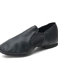 Недорогие -Девочки Обувь для джаза Полиуретан На плоской подошве / Кроссовки На плоской подошве Танцевальная обувь Черный